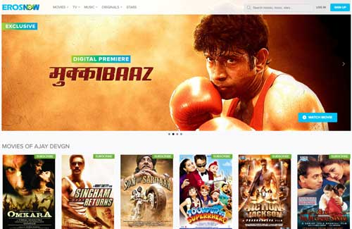 ErosNow-Bollywood-movie-collection