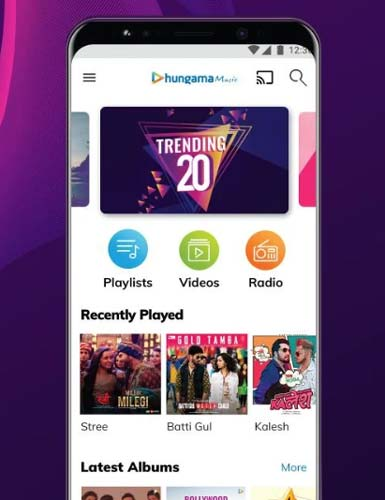 Hungama-music-downloader-priced-app