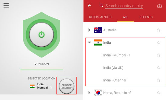 ExpressVPN-Indian-server-Hotstar