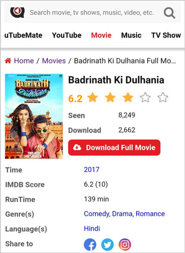 Badrinath-Ki-Dulhania-full-movie-download-uTubeMate