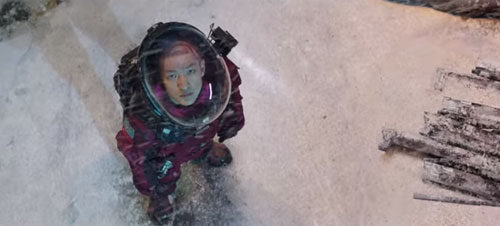 Chinese character Liu Qi in the Wandering Earth