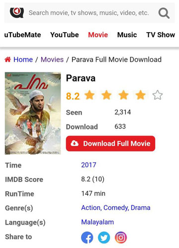 Parava malayalam full movies free download utorrent