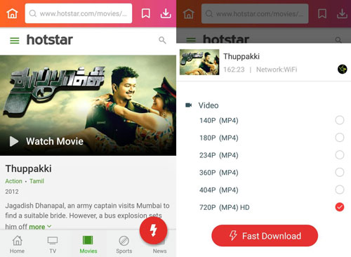 download Thupaki film Hotstar downloader