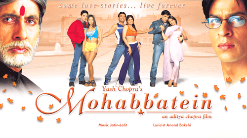 Mohabbatein album produced by Yash Chopra