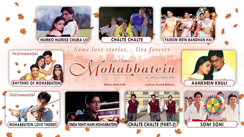 Mohabbatein movie song list