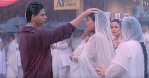 K3G Rahul Anjali in rain scene