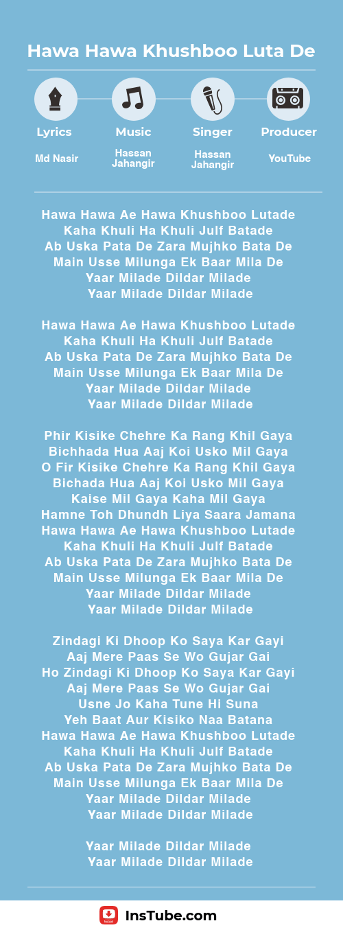 Hawa Hawa Khushboo Luta De original lyrics
