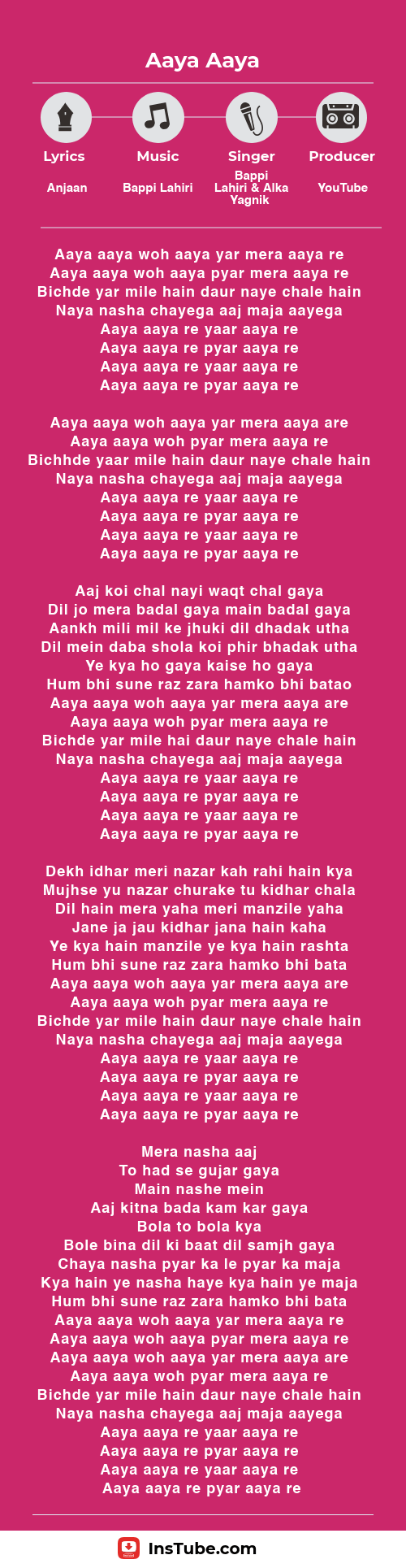 Hawa Hawa lyrics Aaya Aaya Woh Yaar in Aag Ka Gola movie