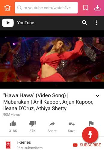 Hawa Hawa mp3 song download InsTube