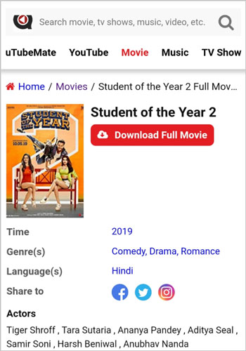 Student of the Year 2 full movie download utubemate