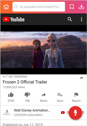 search Frozen 2 full movie songs InsTube