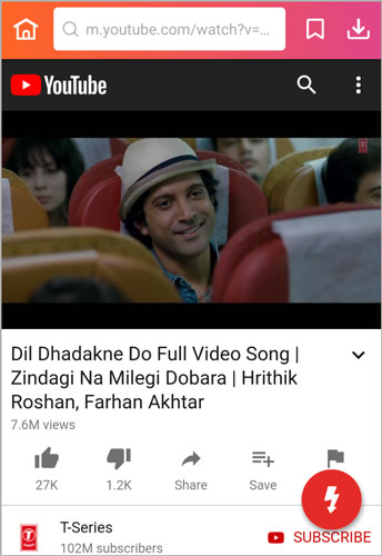 search ZNMD movie song InsTube