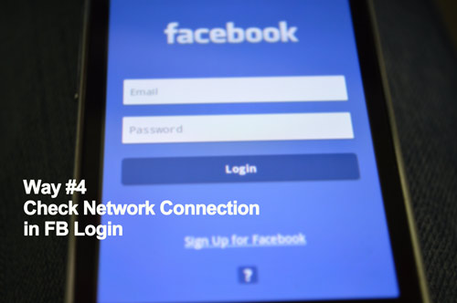check network connection in FB login