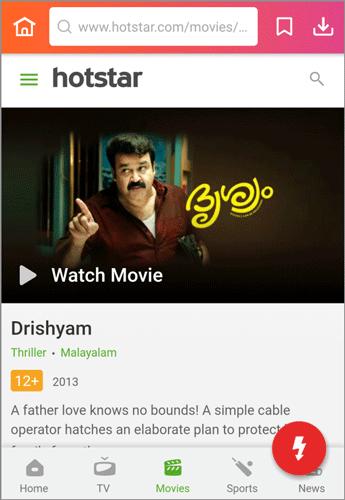 download Drishyam Malayalam movie Hotstar