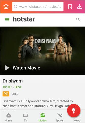 download Drishyam Hindi movie on Hotstar