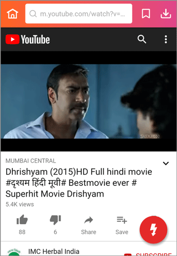 download Hindi movie from YouTube
