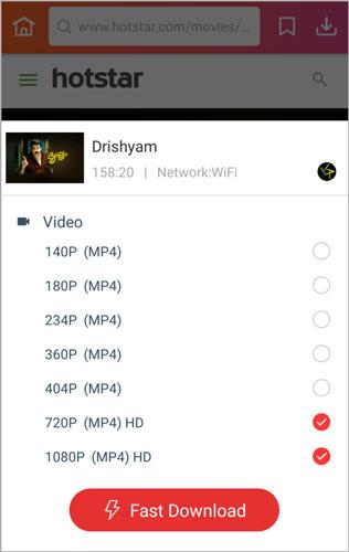 tap fast download Drishyam full movie