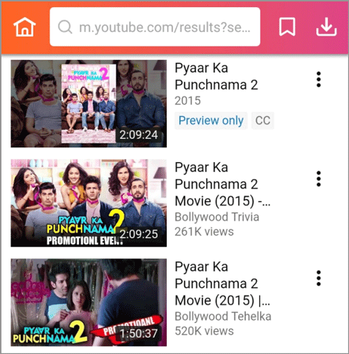 search Pyar Ka Punchnama 2 full movie download
