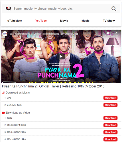 Pyaar Ka Punchnama 2 videos download