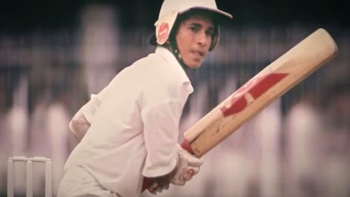 Sachin movie shot Sachin Tendulkar as a young cricketer