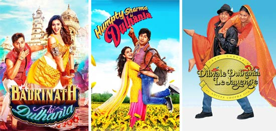DDLJ and HSKD and BKD movie poster