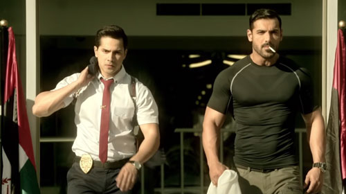 John Abraham Varun Dhawan in Dishoom