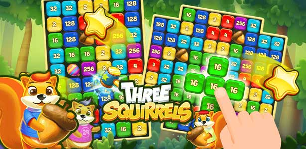 Three Squirrels puzzle game for Android