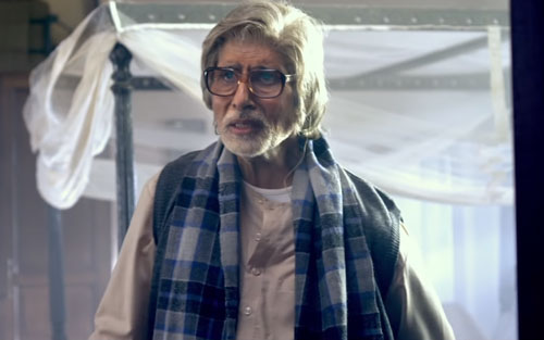 Amitabh Bachchan as Bhashkor in Piku