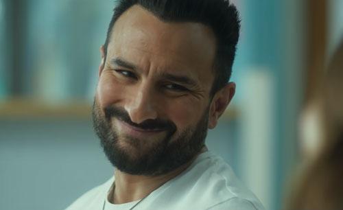 Saif Ali Khan as 40 year old man
