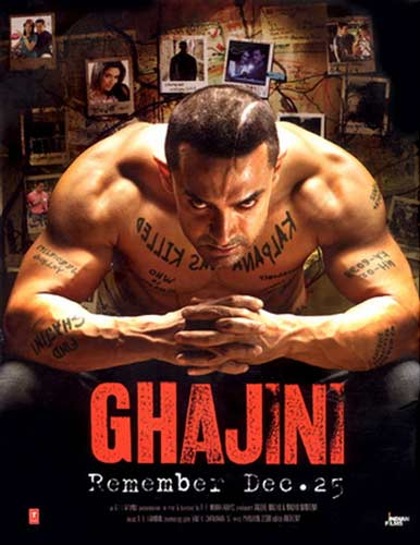 Ghajini movie 2008 poster