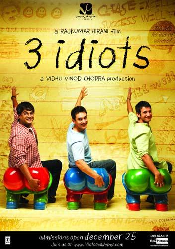 3 Idiots movie 2009 poster