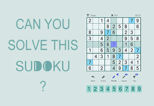 Sudoku number puzzle game download