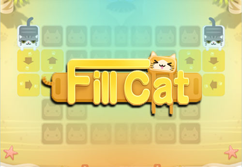Fill Cat one line puzzle game