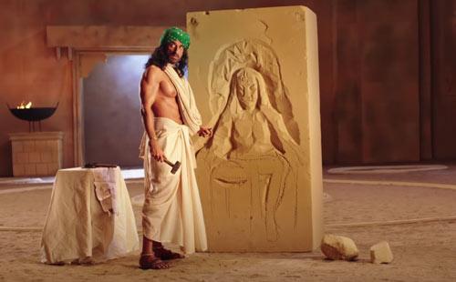 Bhairao and Leela statue