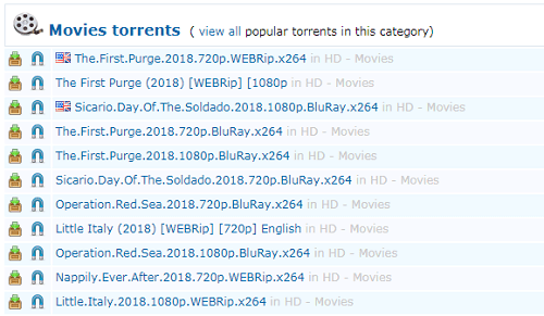 ExtraTorrents movie download site